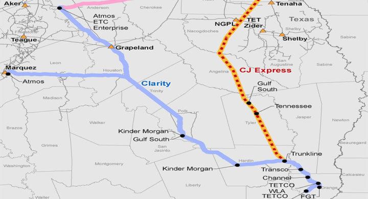 CJ Express Pipeline Map