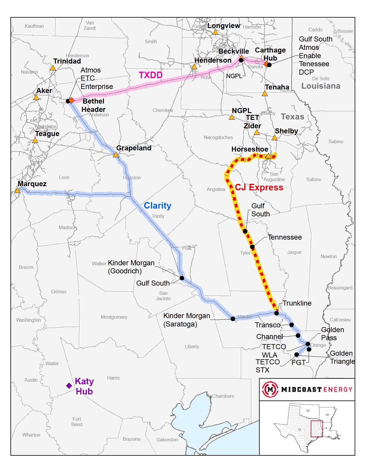 CJ Express Pipeline Project | Midcoast Energy