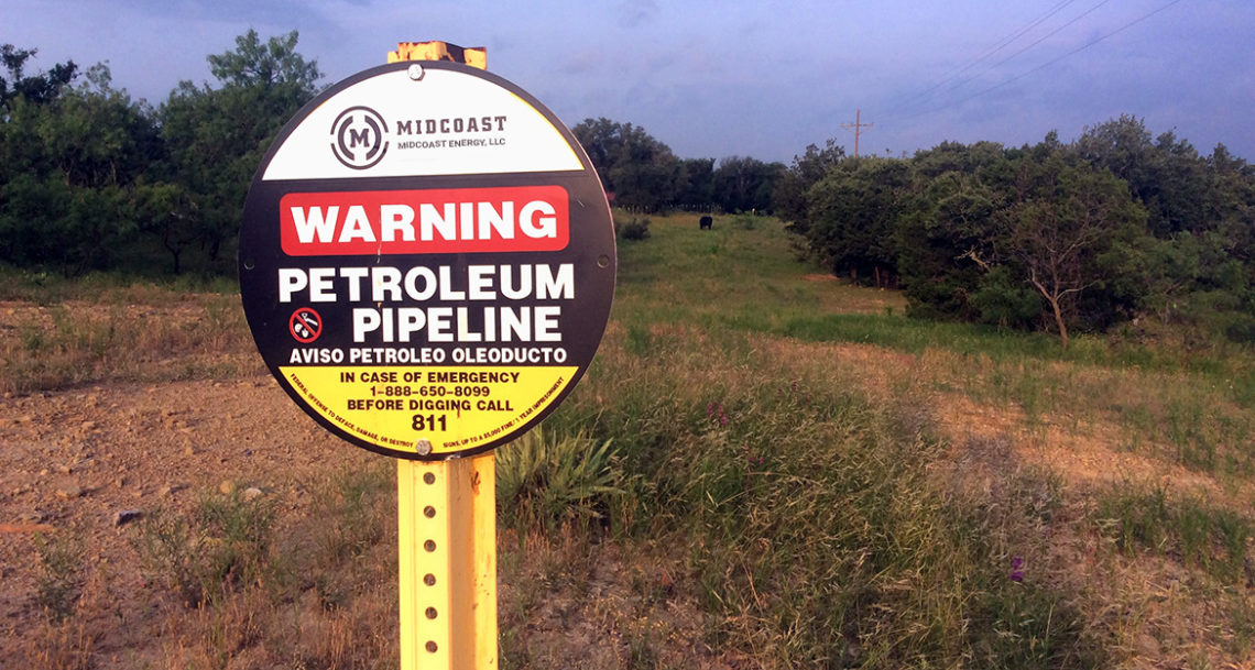 Midcoast Energy Pipeline Marker